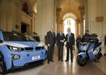 BMW: auto e scooter elettrici alla Polizia di Stato per Expo 2015