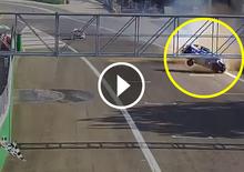 Clio Cup Italia 2017 Monza: l'incidente di Nardilli all'arrivo [Video]