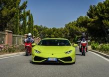 Lamborghini e Ducati, viaggio verso la 1000km del Paul Ricard [Video]