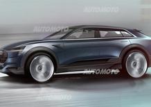 Audi Q6, ecco la versione elettrica e-tron quattro concept