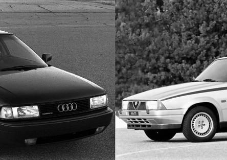 5 lustri fa, Confronto: Alfa 75 Vs Audi 80 (B3)