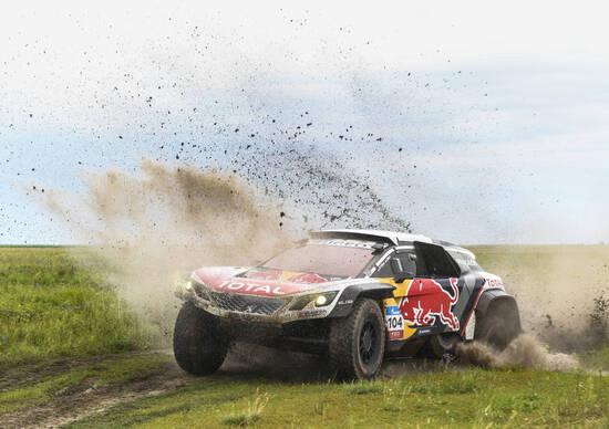 "Silk Way Rally 2017. Loeb (Peugeot) ""primissimo"" a metà strada"