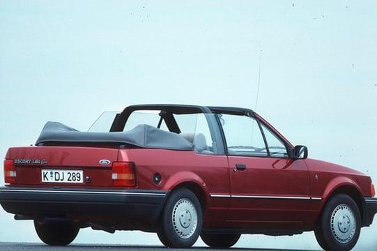 ford escort cabrio 1 4 cabriolet xr3 01 1989 09 1990 prezzo e scheda tecnica. Black Bedroom Furniture Sets. Home Design Ideas