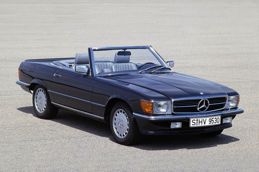 mercedes benz 500 cabrio 500 sl roadster 07 1980 03 1982 prezzo e scheda tecnica. Black Bedroom Furniture Sets. Home Design Ideas