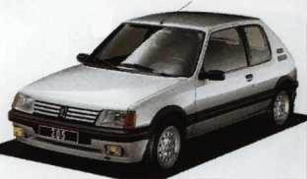 Peugeot 205 3 porte gti 06 1987 06 1990 prezzo e for Porte 205 gti
