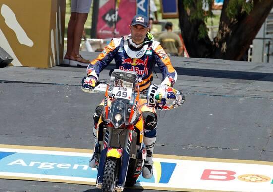 Antoine Meo alla partenza della sua prima Dakar