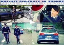 Polizia Stradale in azione: incidente con e senza feriti. Cosa fare [Video]