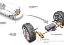Audi eROT: recupero energia dai movimenti delle sospensioni elettriche