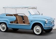Pebble Beach, venduta per 108.000 euro una Fiat 600 Jolly Ghia del 1961