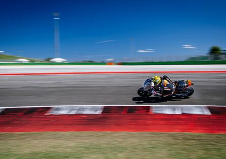 KTM RC16, la gallery dei test a Misano