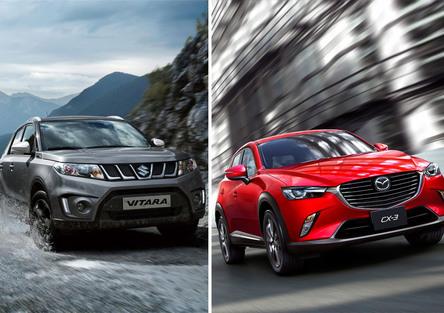 Quale comprare, Confronto: Mazda CX-3 1.5 D AWD Vs Suzuki Vitara 1.6 DDiS 4WD Allgrip
