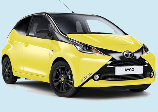 toyota aygo x cite yellow nuovo allestimento a listino news. Black Bedroom Furniture Sets. Home Design Ideas
