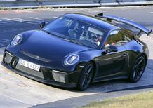 Porsche 911 GT3 facelift: test al Nürburgring