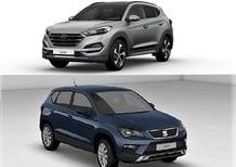 Quale comprare, Confronto: Seat Ateca 1.6 TDI Style Vs Hyundai Tucson 1.7 CRDi Comfort