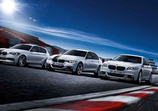 BMW Serie 1, Serie 3 e Serie 5 con pacchetto M Performance