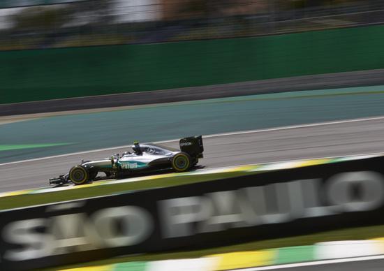 F1, Gp Brasile 2016, FP3: Rosberg davanti a tutti