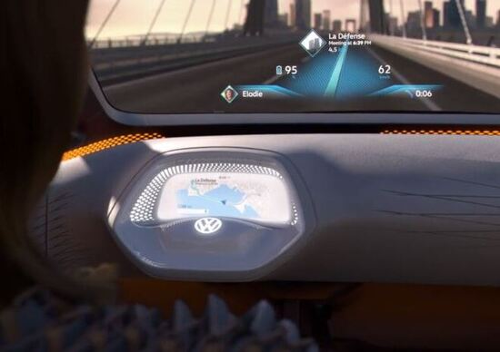 Volkswagen: l'elettrica I.D avrà un head-up display a realtà aumentata