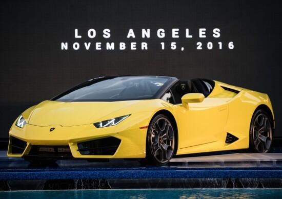 Lamborghini Huracan RWD Spyder: puro godimento al Salone di Los Angeles