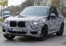 Nuova BMW X3: nuove foto dei prototipi in test