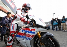 F1, Alonso prova la Honda MotoGP a Motegi