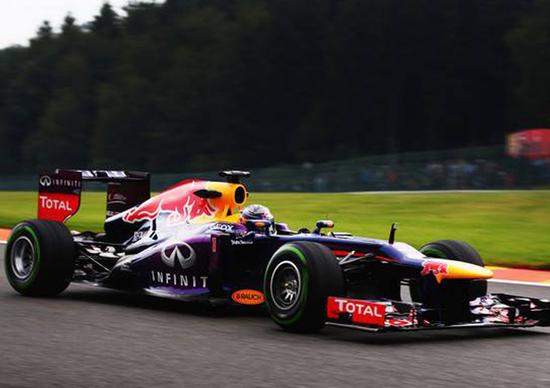 F1 Belgio 2013: Vettel domina la seconda sessione di libere a Spa