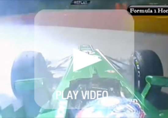 F1 Belgio 2013: brutto incidente in FP2 per la Caterham di Van Der Garde