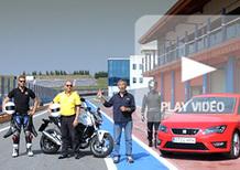 Six Wheels: Seat Leon SC FR e Honda NC700S uniscono le forze per battere Gillo