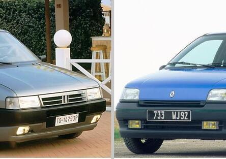 5 lustri fa, Confronto: Fiat Uno Vs Renault Clio I