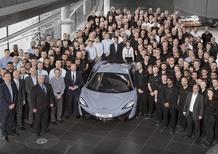 McLaren: prodotta l'auto numero 10.000