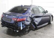 Alfa Giulia Quadrifoglio: meno di 50.000 euro per una incidentata