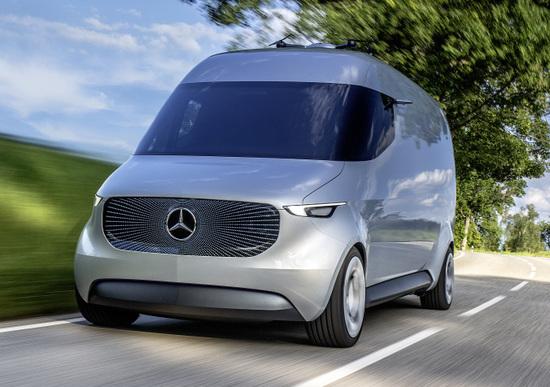 Mercedes Vision Van, la consegna si fa col drone