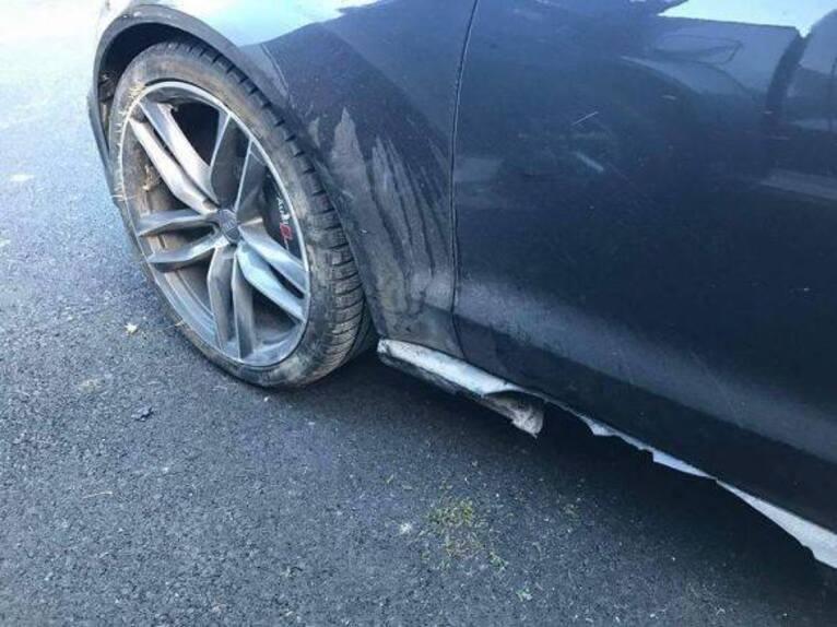 Valentino Rossi: incidente sulla neve con l'Audi RS6 (3)