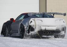 Nuova Corvette ZR1: spiata nel freddo nord, arriverà nel 2018