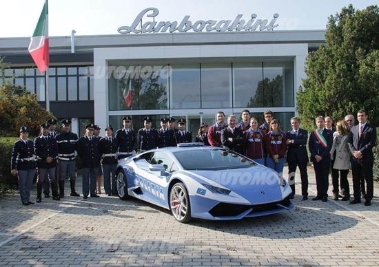 Lamborghini apre le porte agli atleti della Polizia di Stato