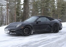 Nuova Porsche 911 cabrio 2018: test sulla neve