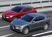 Alfa Stelvio e Giulia, full led ed Apple CarPlay in arrivo. Poi una erede per 166 e Giulietta (a trazione posteriore)
