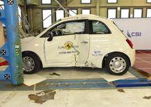 Scivolone Fiat 500 restyling: solo 3 stelle Euro NCAP