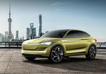 Skoda Vision E: Kodiaq coupé con 500 km d'autonomia elettrica
