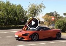 McLaren 720S, in pista a Vallelunga [Video]